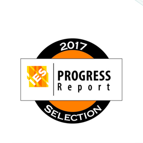 2017 IES Progress Report inclusion logo, awarded to Sole, Visa Lighting's unbreakable LED mirror
