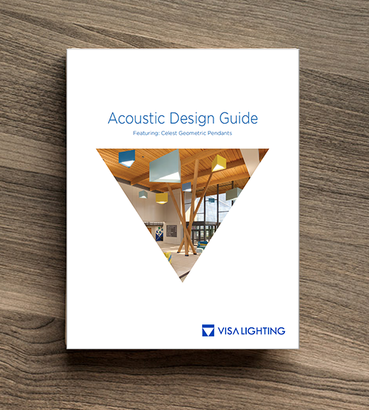 Cover to the Acoustic Lighting Design Guide by Visa Lighting