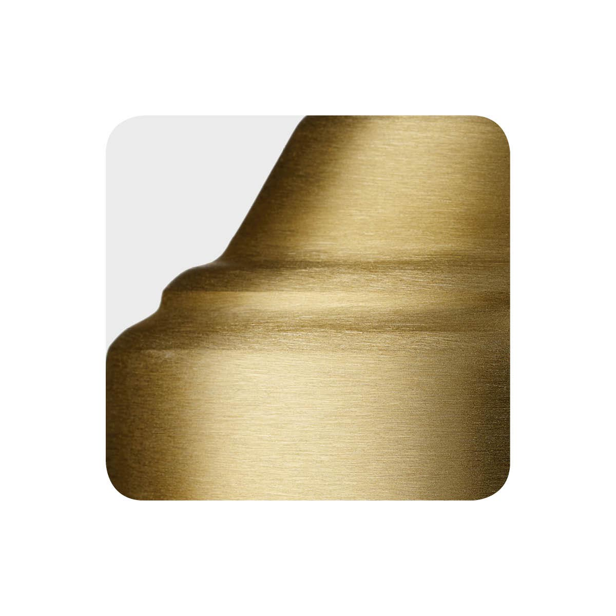 Brushed brass alternative metal finish sample