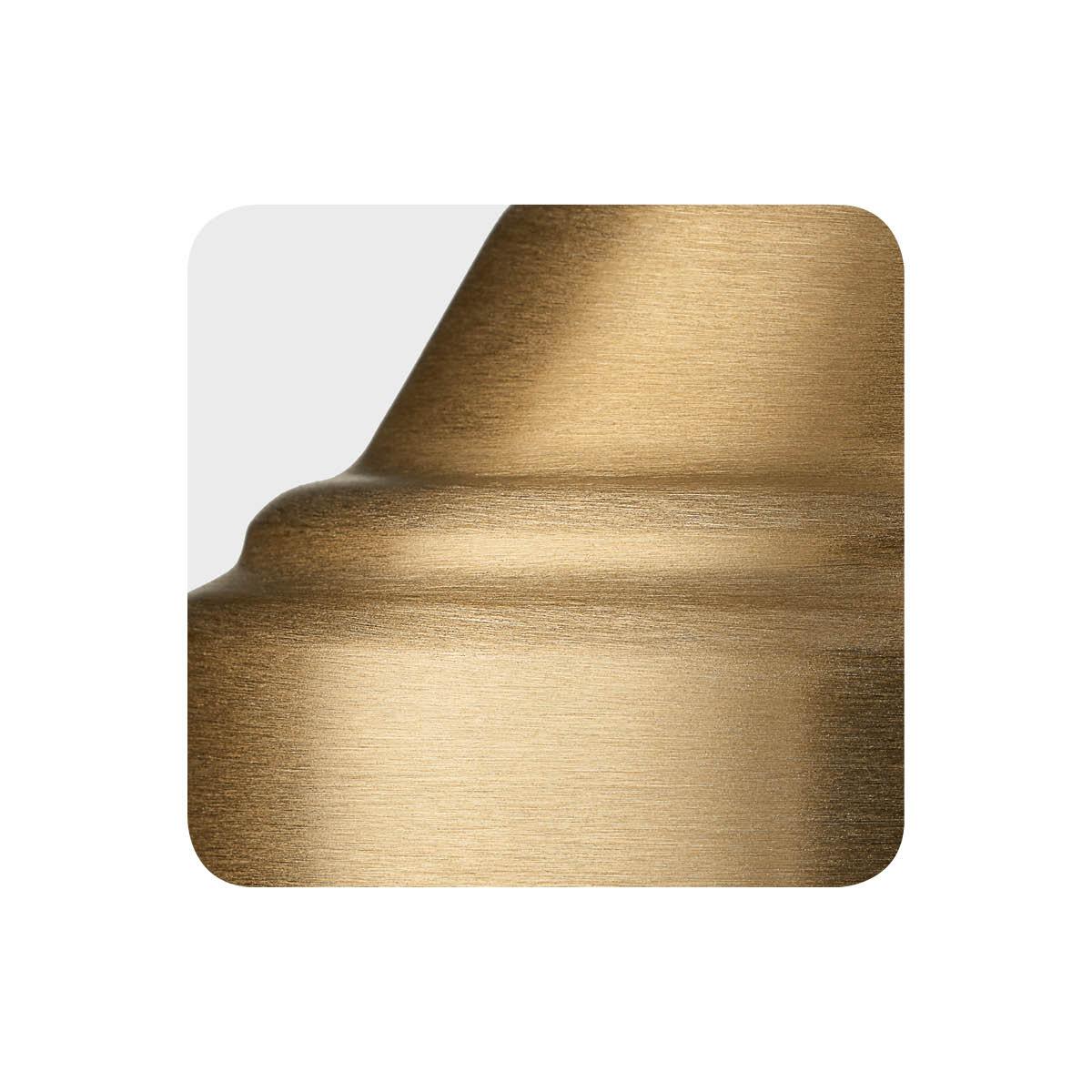 Brushed bronze alternative metal finish sample