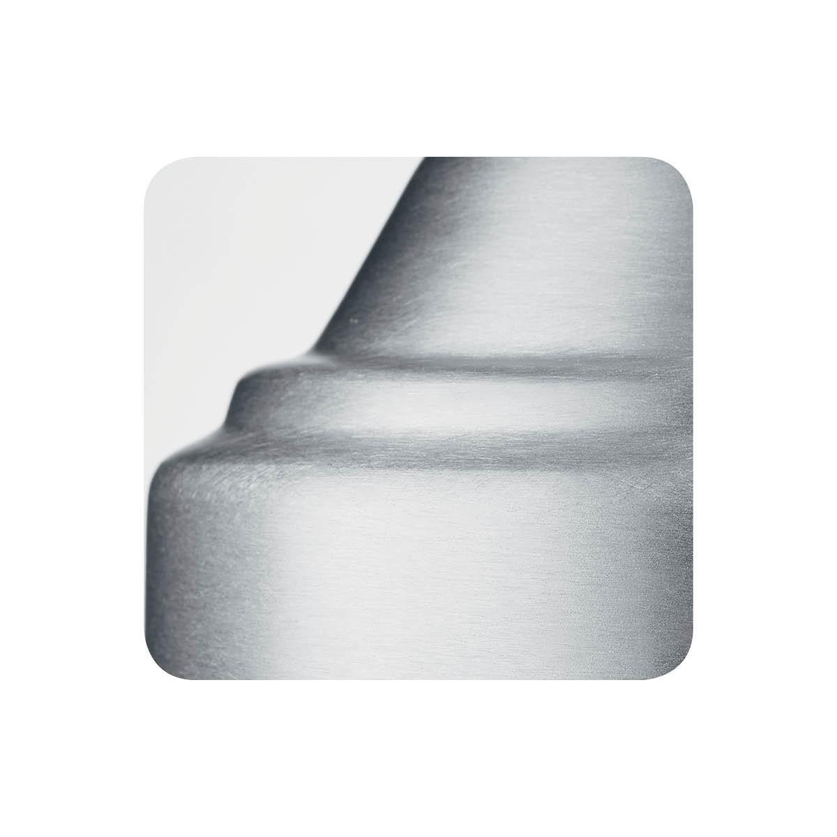 Brushed chrome alternative metal finish sample