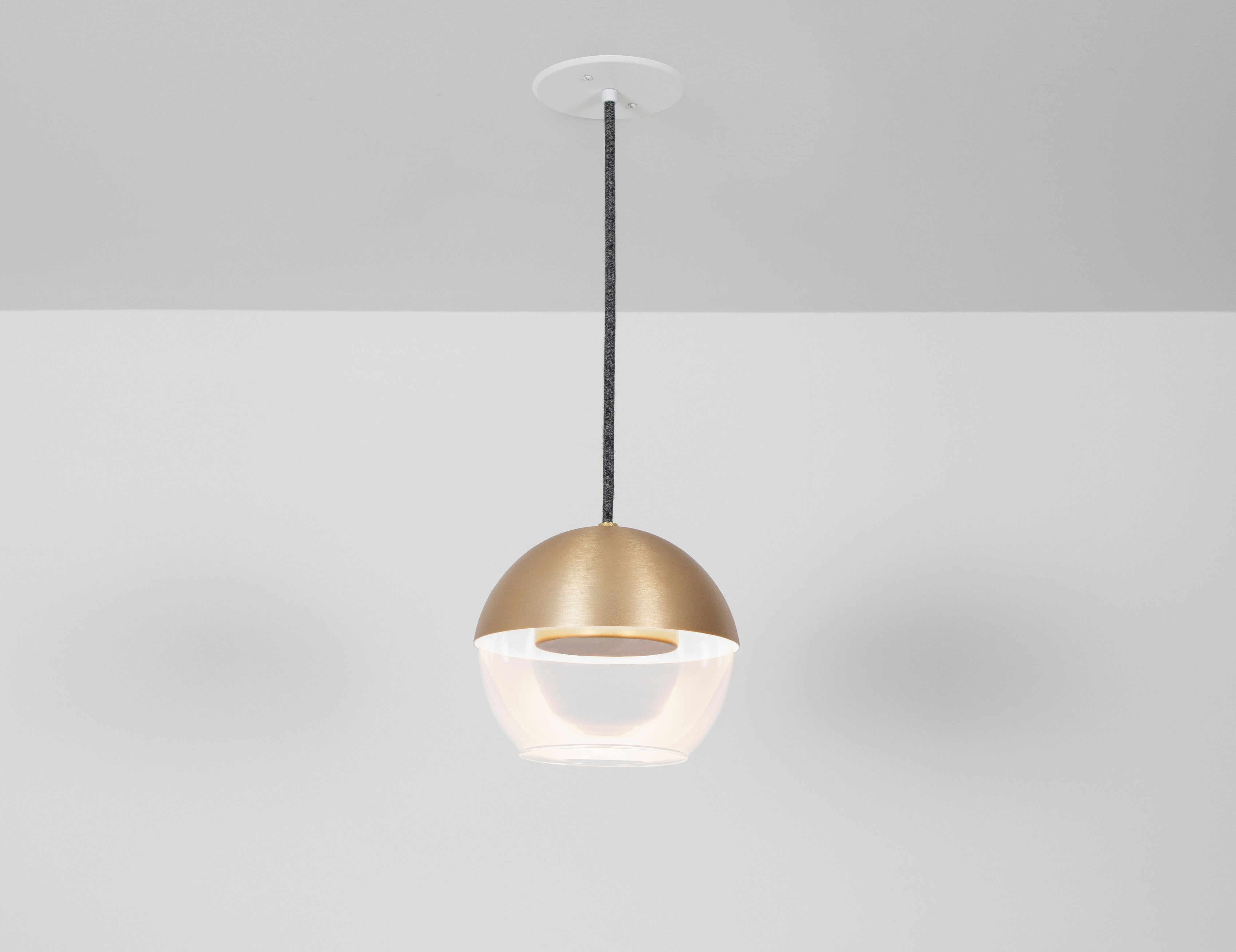 Muse glass globe pendant with LED