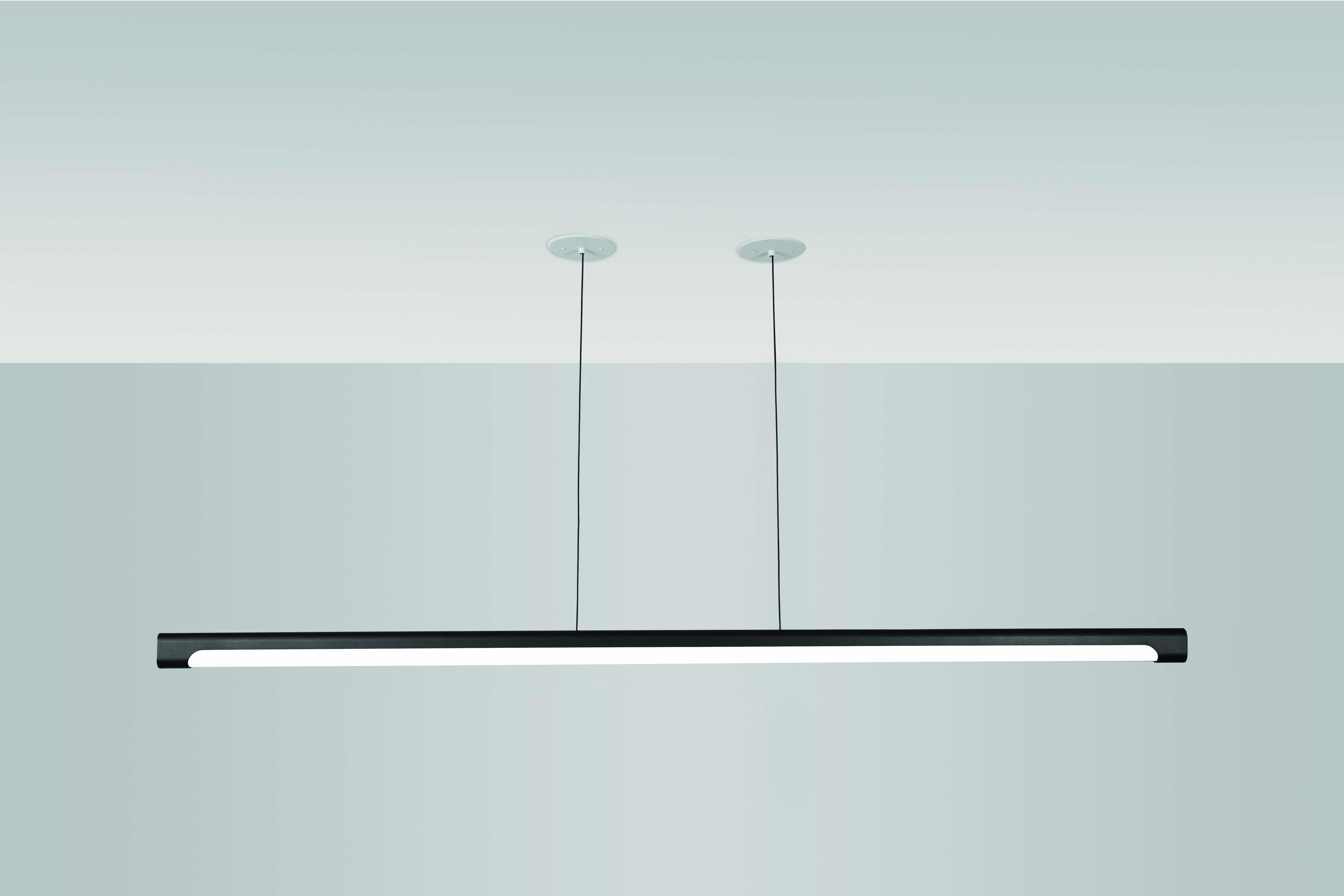 Nacelle linear LED pendant 70in length by Visa Lighting