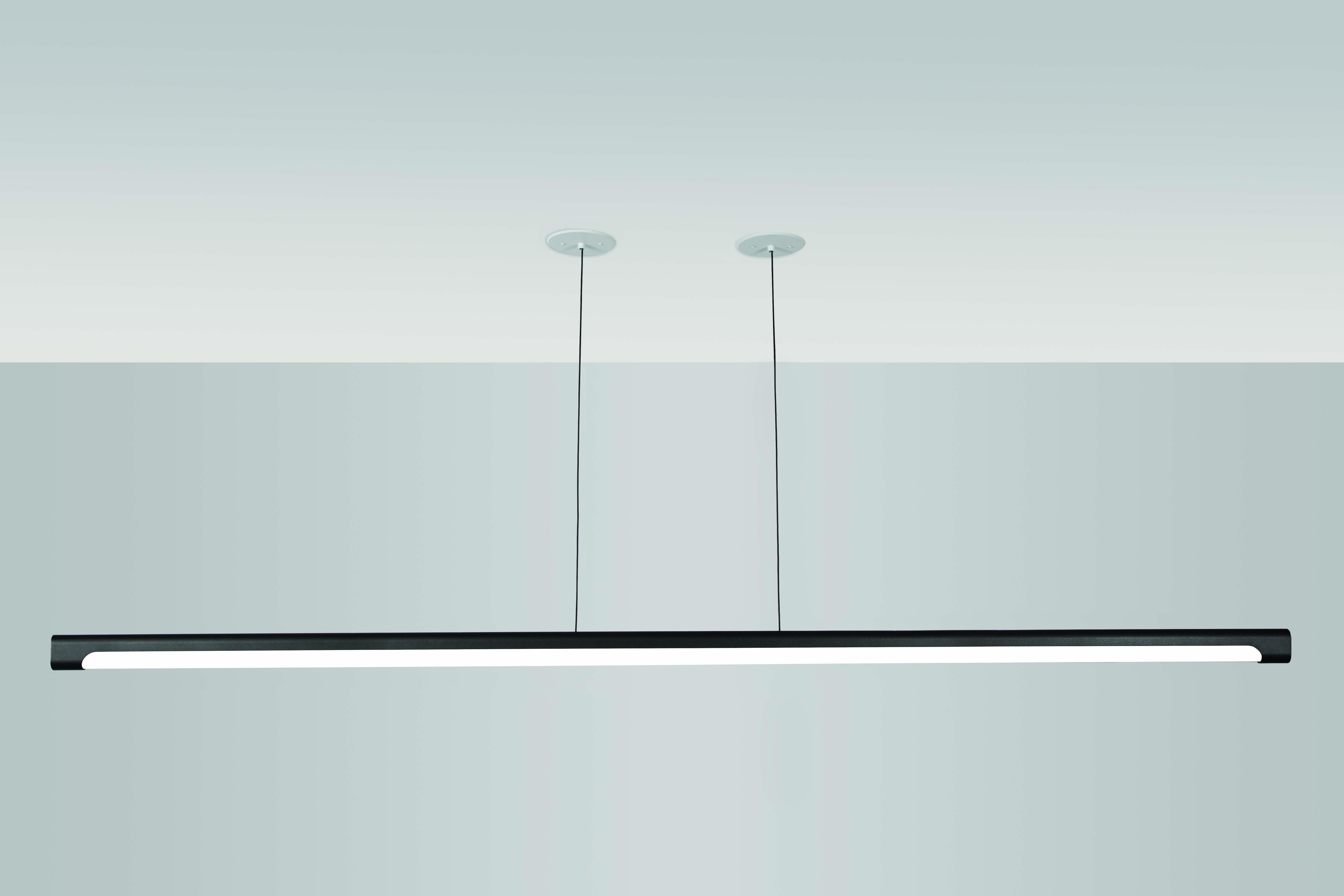 Nacelle linear LED pendant 92in length by Visa Lighting