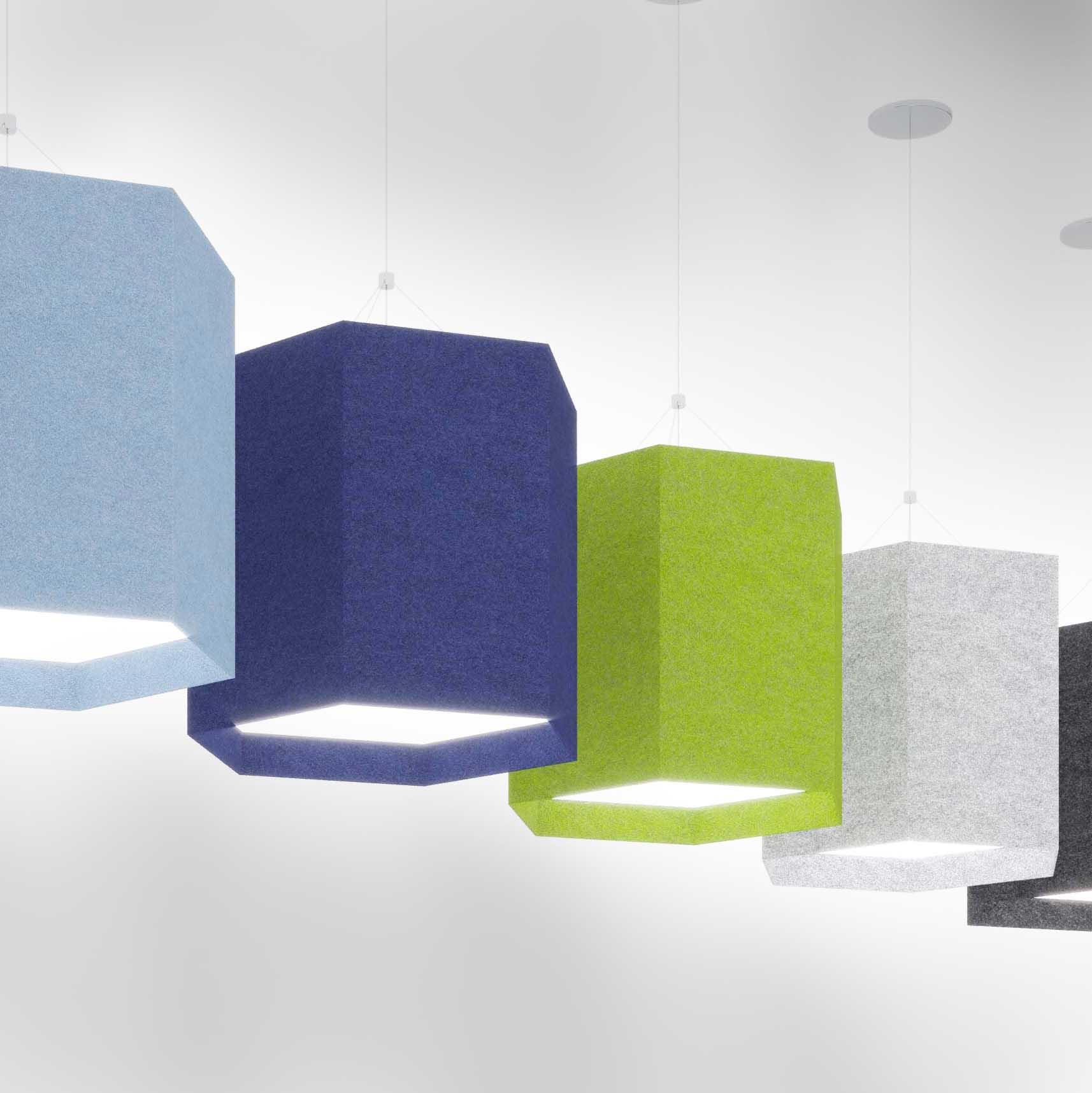 Visa Lighting acoustic felt lighting