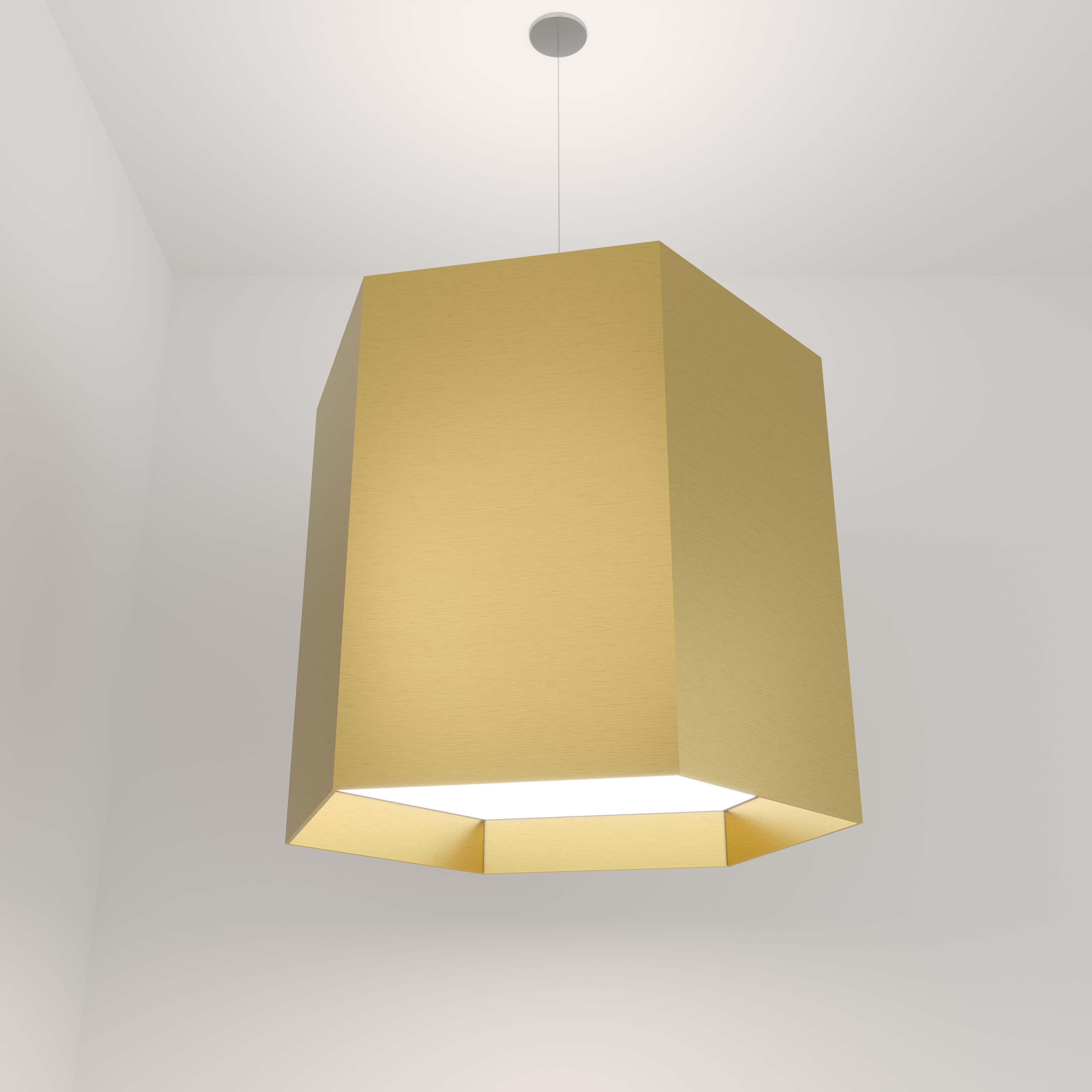 Visa Lighting acoustic felt commercial architectural lighting pendant hexagon.