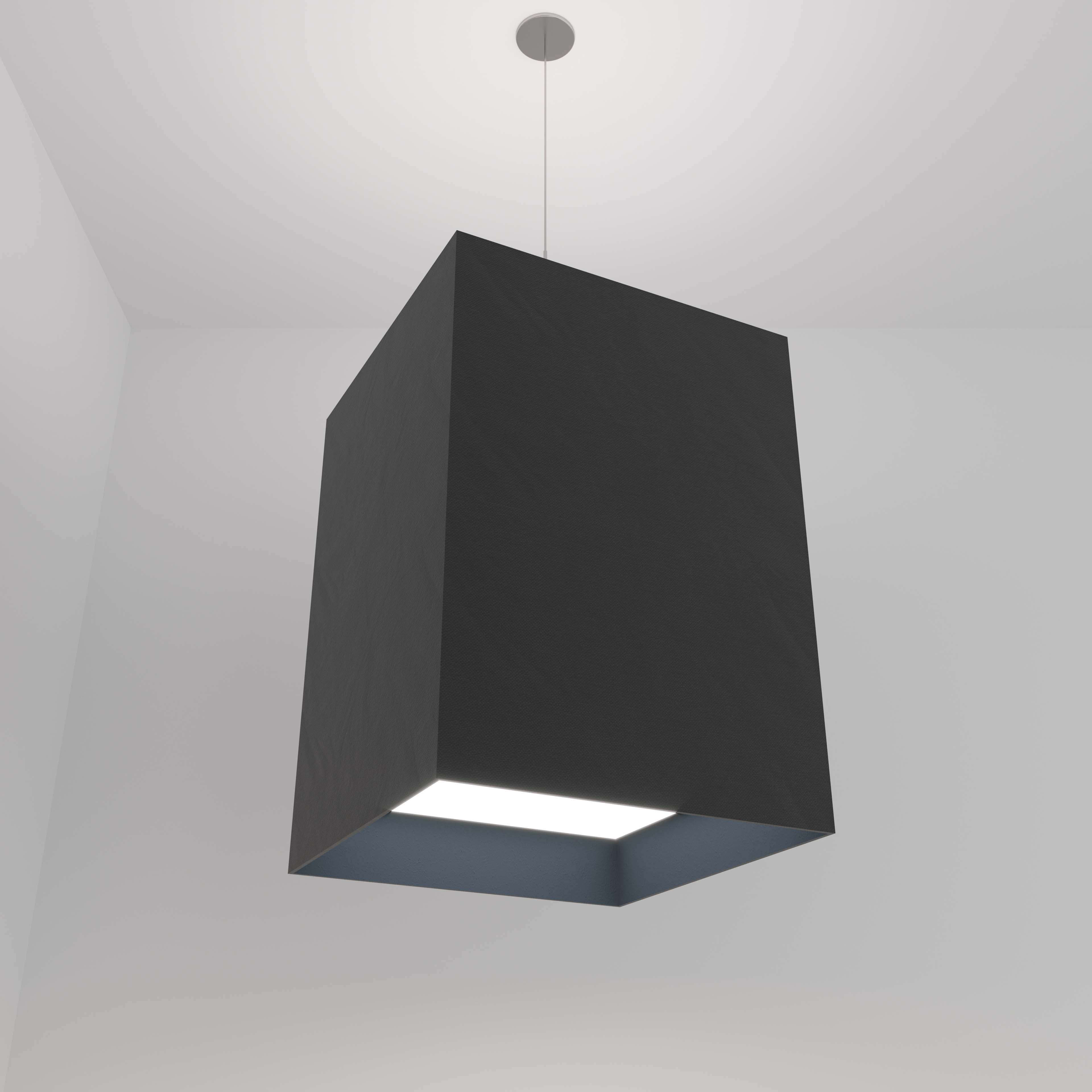 Visa Lighting acoustic felt commercial architectural lighting pendant square.