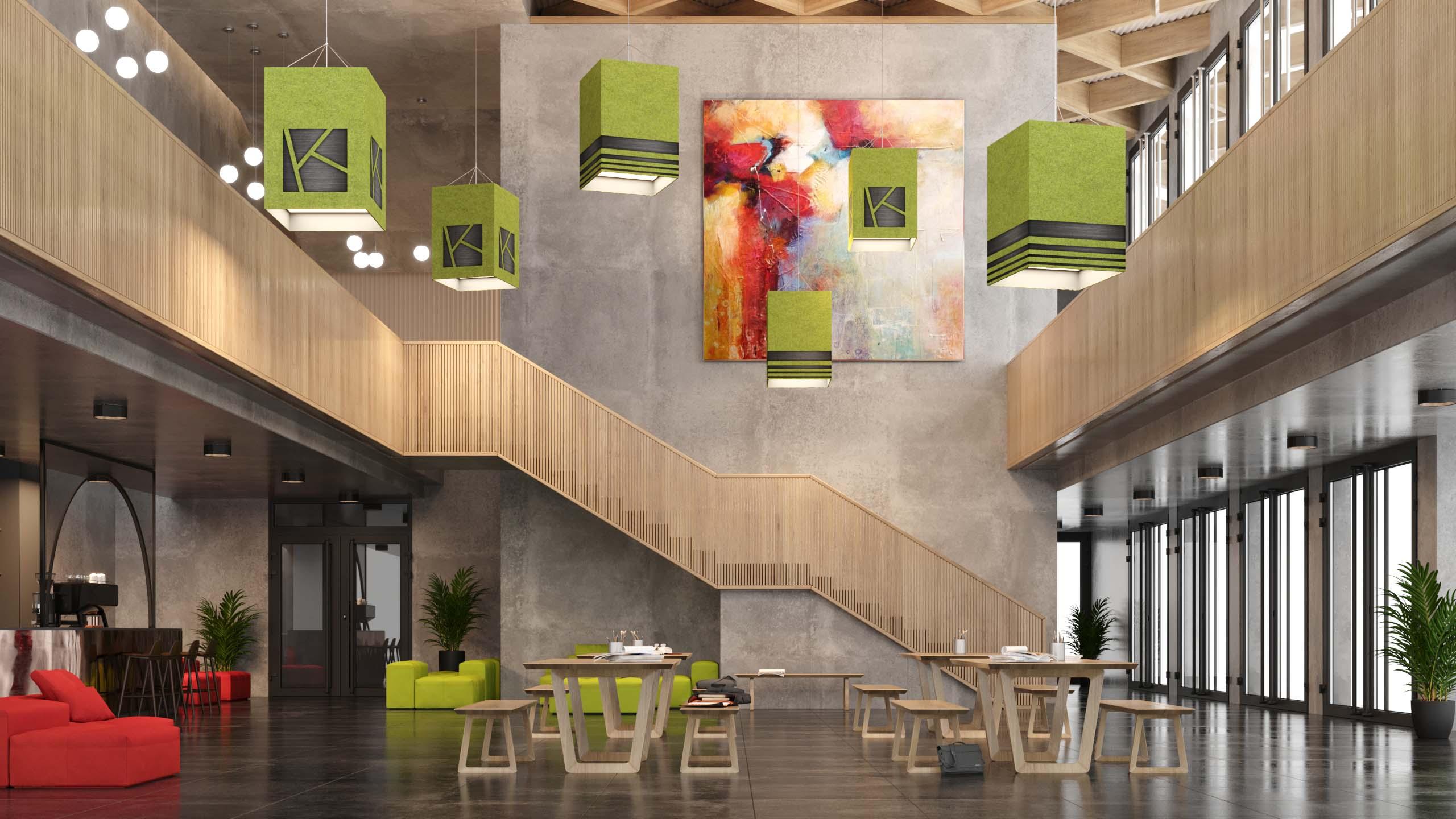 Modern pendant lighting from Visa Lighting for commercial architectural interiors.
