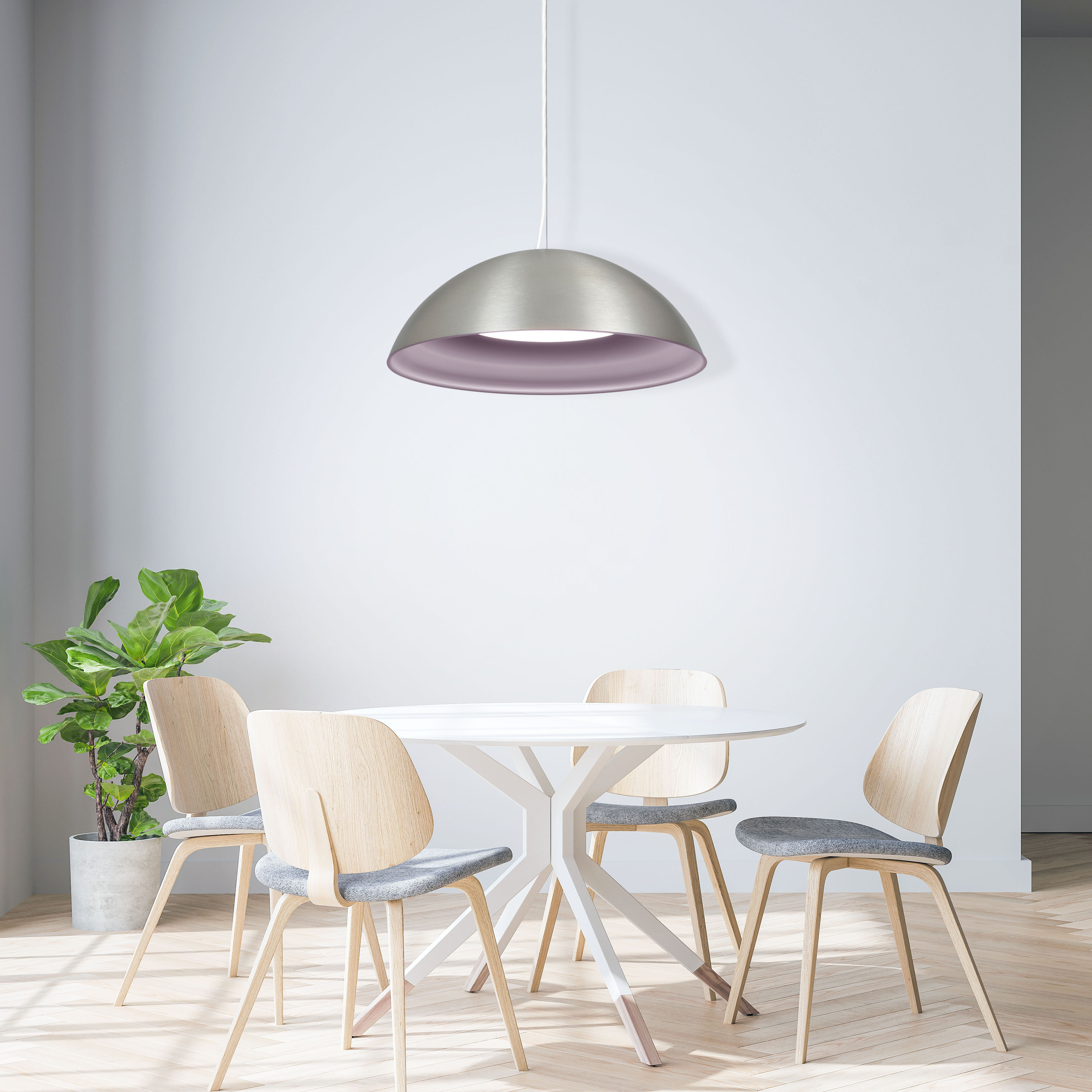 Hellen dome pendant light with black, gold, and bronze finishes