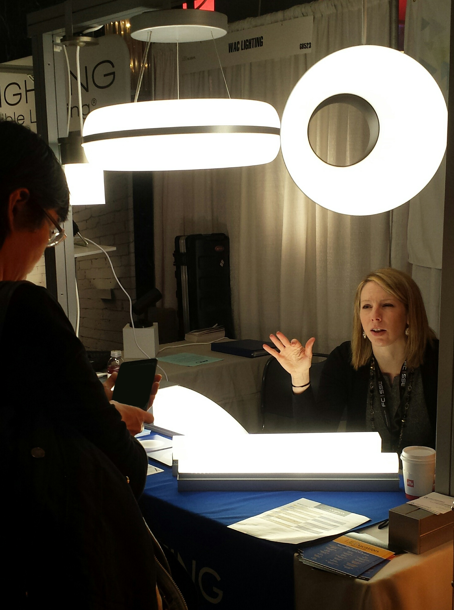 Lauren at the Visa Lighting booth at 2017 LEDucation.