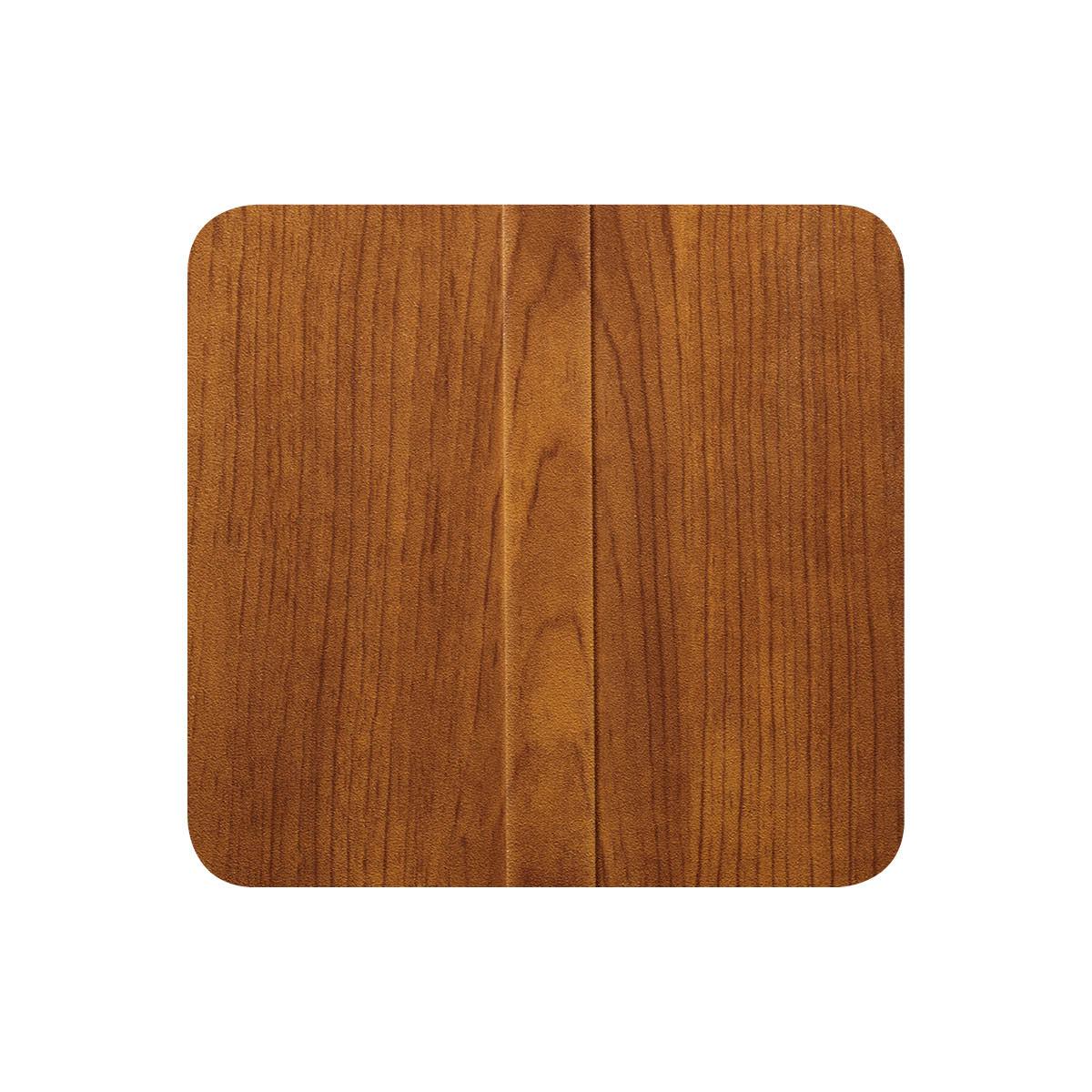 Mediterranean cherry metal based wood alternative finish sample.