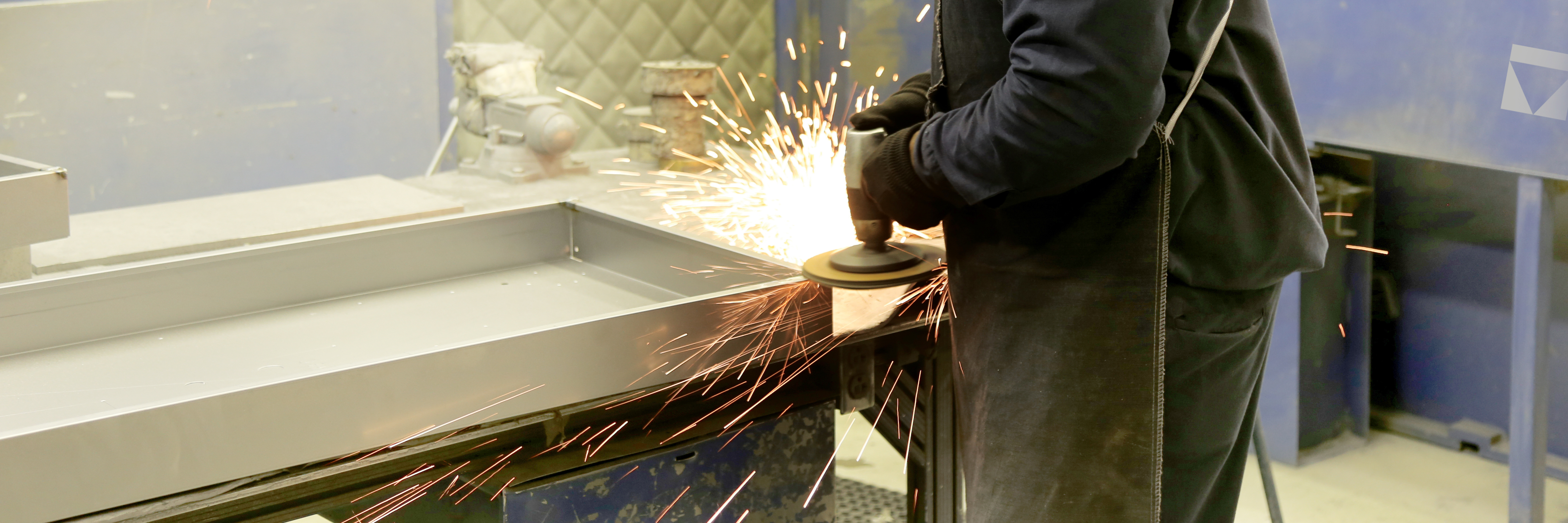 The polishing departments treats all of our specialty metal light fixture finishes by hand.