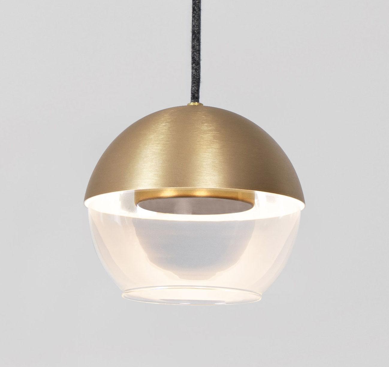 Muse LED glass globe pendant light