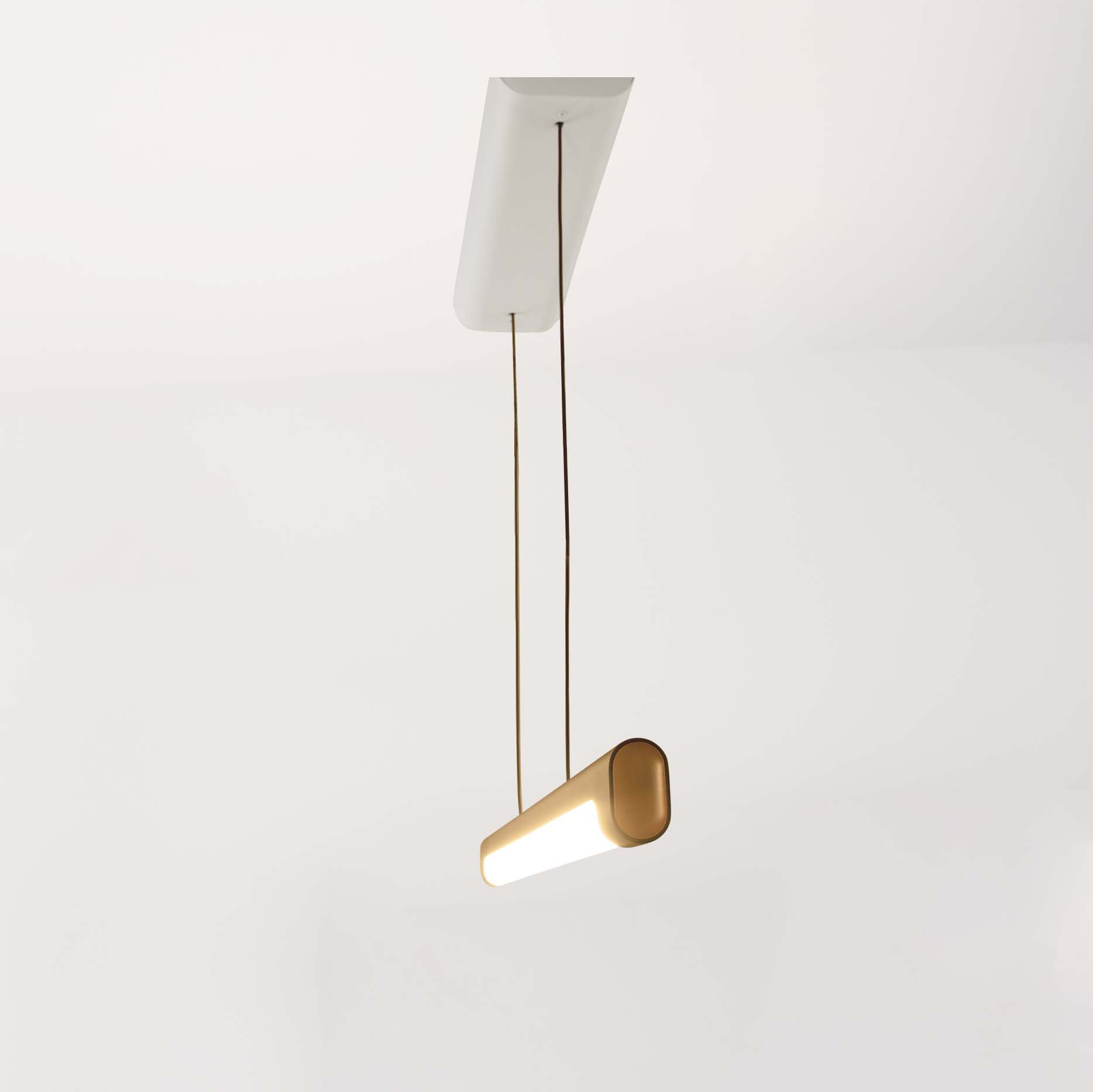Nacelle decorative linear pendant with organic lines and high-design by Visa Lighting