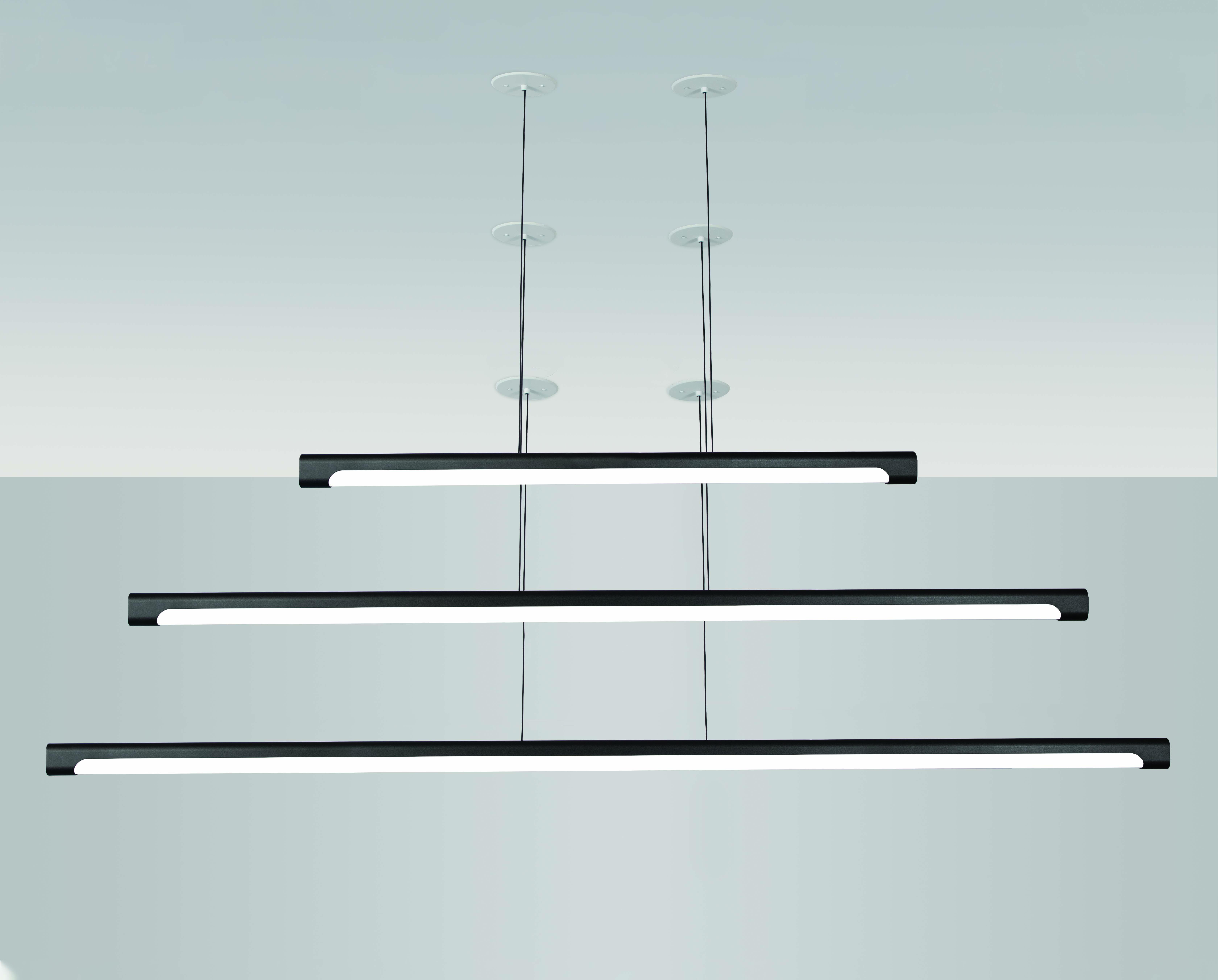 Visa Lighting suspended LED linear pendant light in 3 sizes