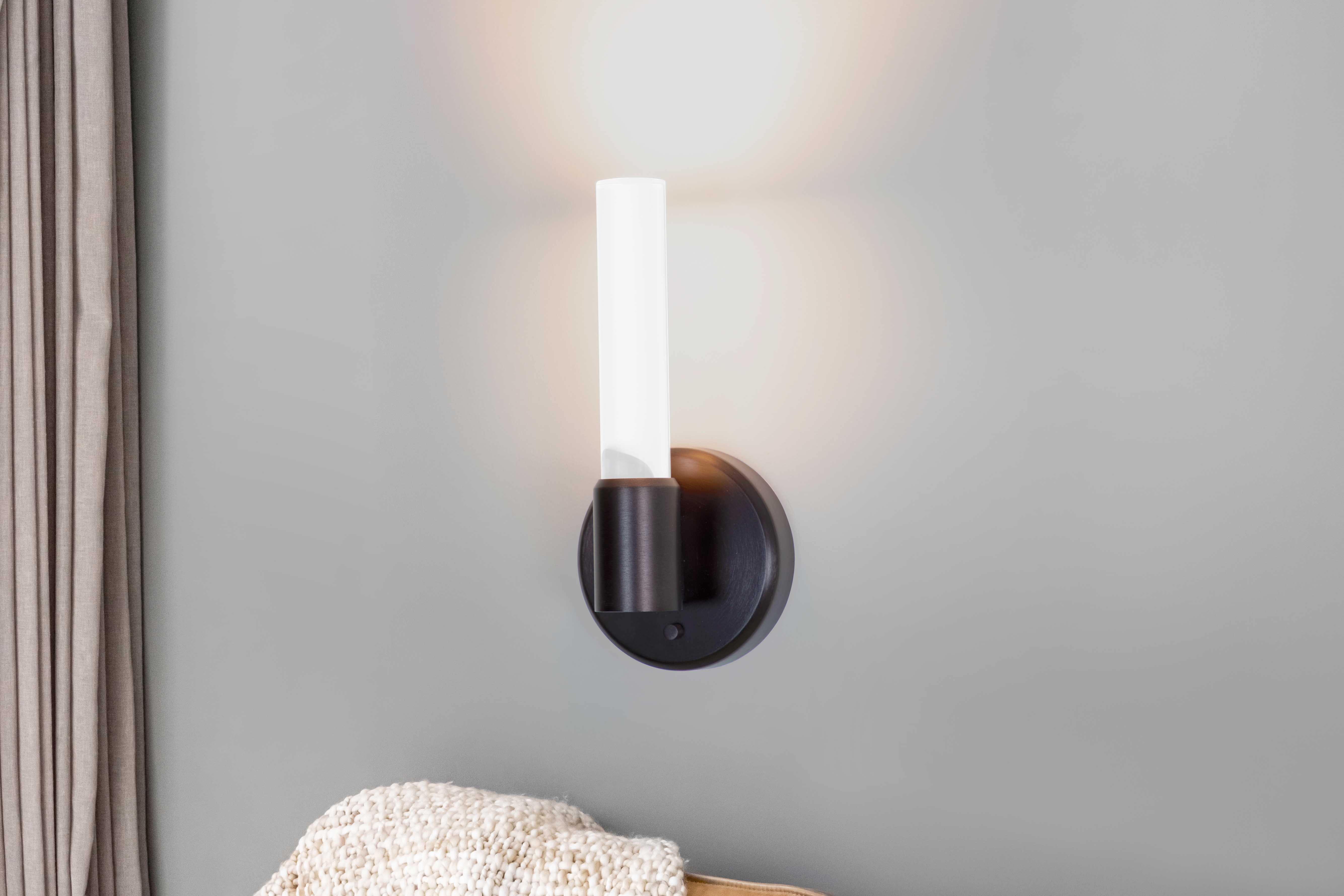 Theo single and double rod candelabra style LED wall sconces