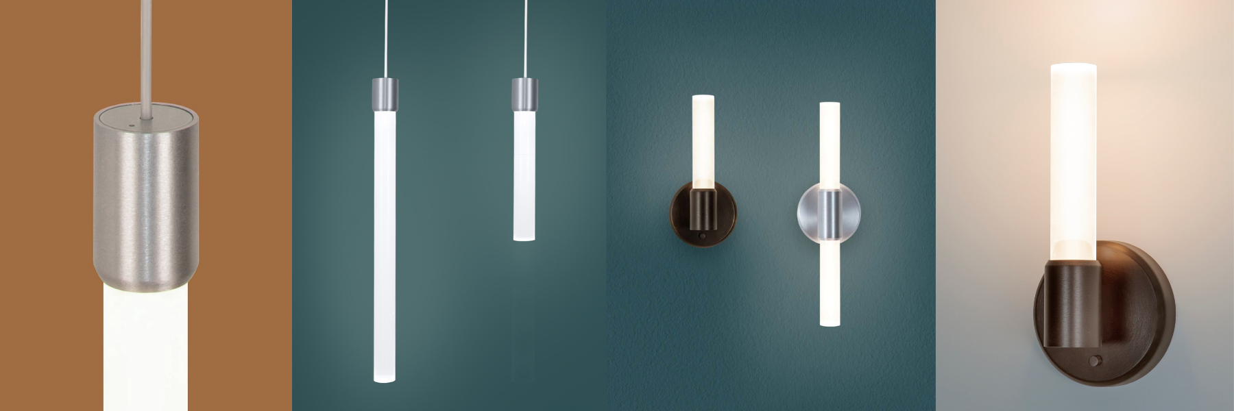 Theo LED light rod pendant and sconce collection