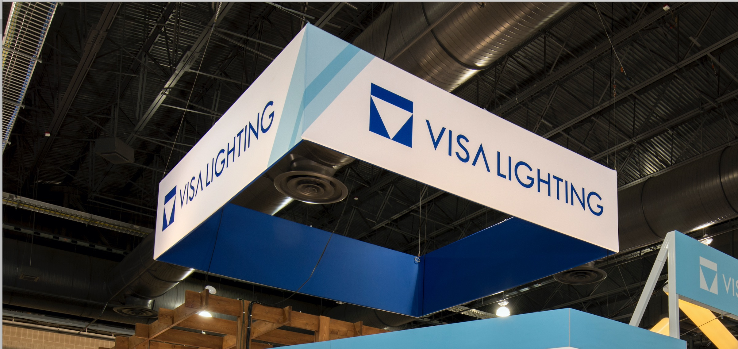 Visa Lighting banner above Healthcare Design Expo 2017