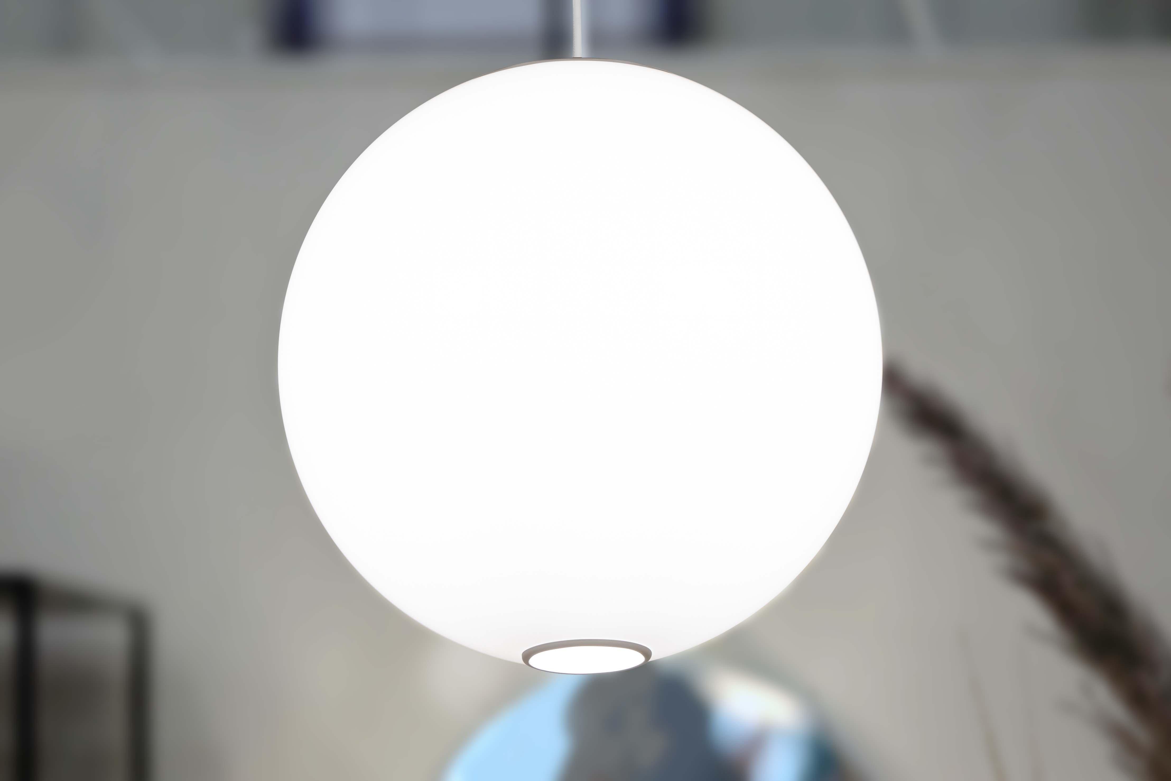 Zume 12in LED globe pendant light made in America by Visa Lighting