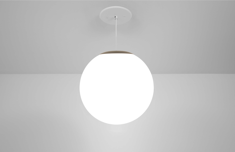 Zume 12in indoor globe pendant light made in America by Visa Lighting