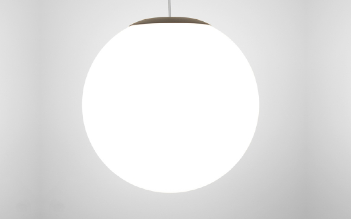 Zume indoor and outdoor globe LED pendant lights by Visa Lighting
