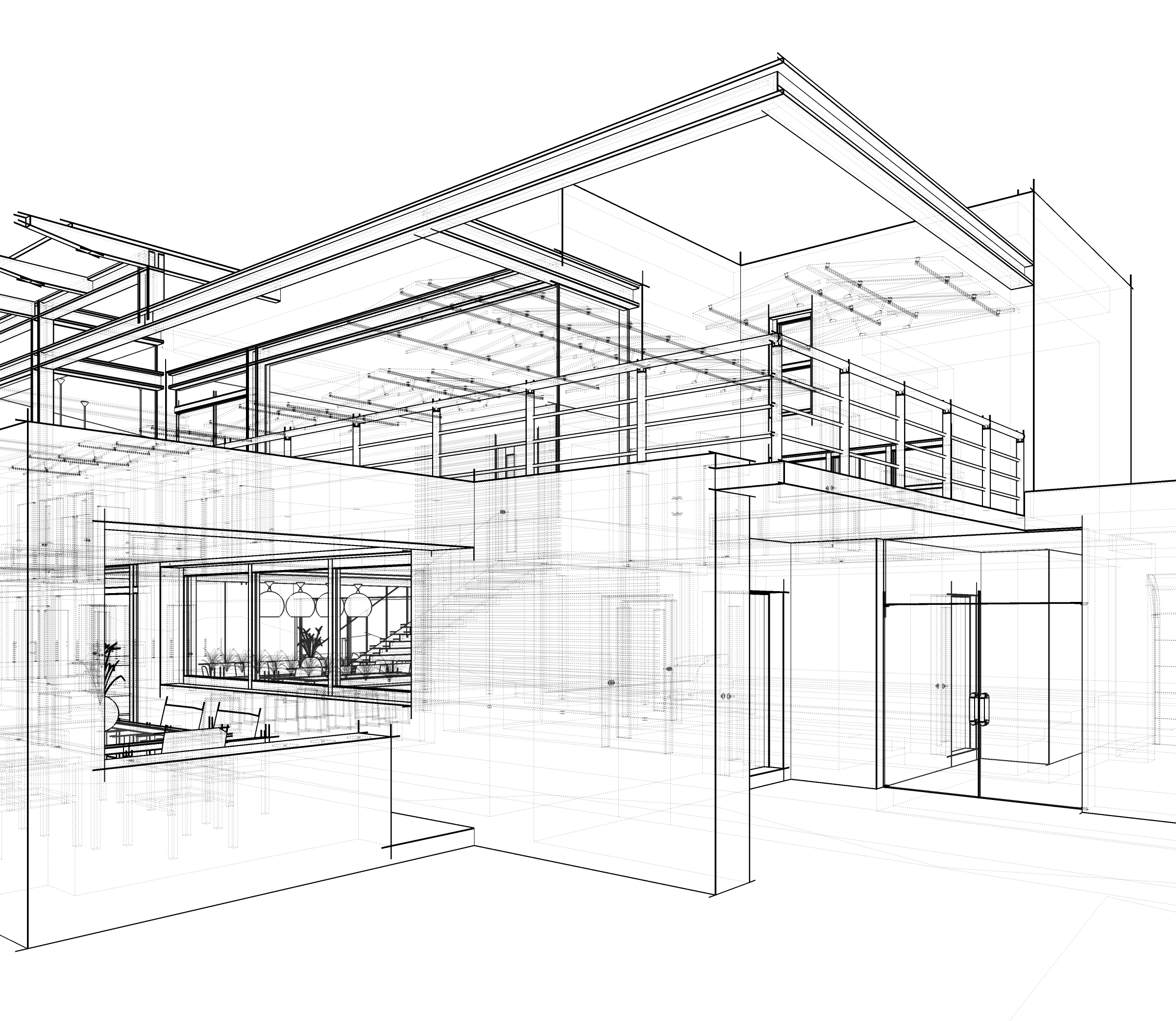architectural drawing for calculating building acoustics