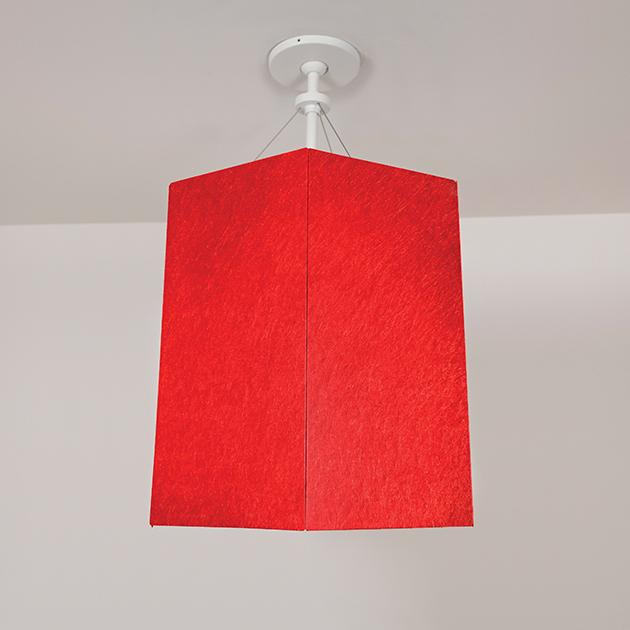 pendant light with acoustic felt called Celest by Visa Lighting