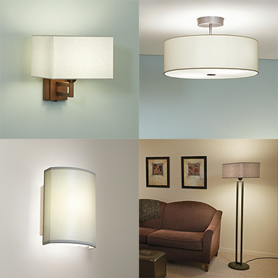 Allegro family of sconces, pendants, and floor lamps