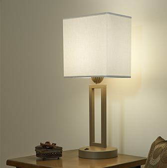 LED table lamp with shade