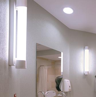 Asta bathroom vanity light for hospitals
