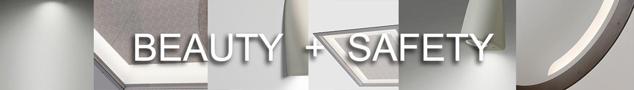 Behavioral health light fixtures closeup to show quality materials