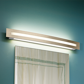 Blush vanity light for healthcare patient rooms