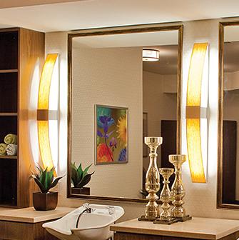 Unique vanity lighting for mirrors