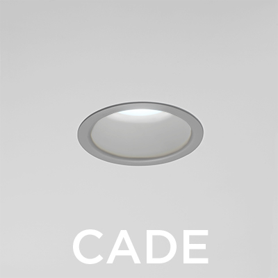 Cade disinfecting recessed downlight in white light disinfection mode will be shown at HCD 2018
