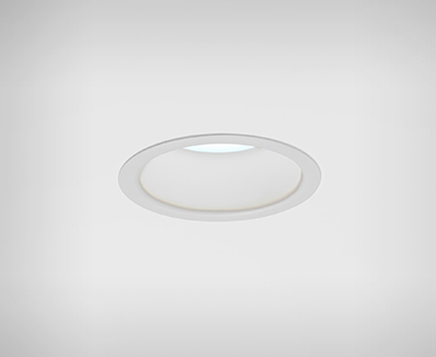 Cade, a recessed downlight, in disinfecting white