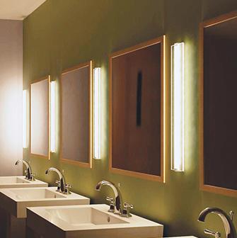 Easy to clean healthcare vanity lighting for patient rooms