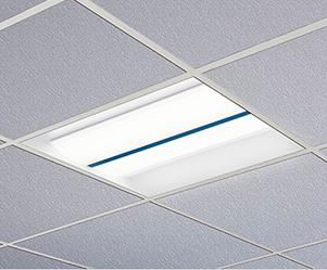 Jasper architectural troffer in White Light Disinfection mode