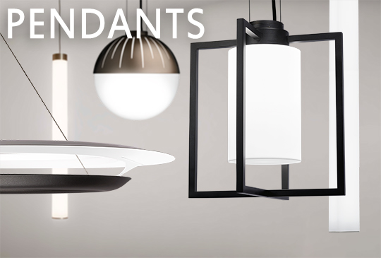 Various architectural pendants by Visa Lighting