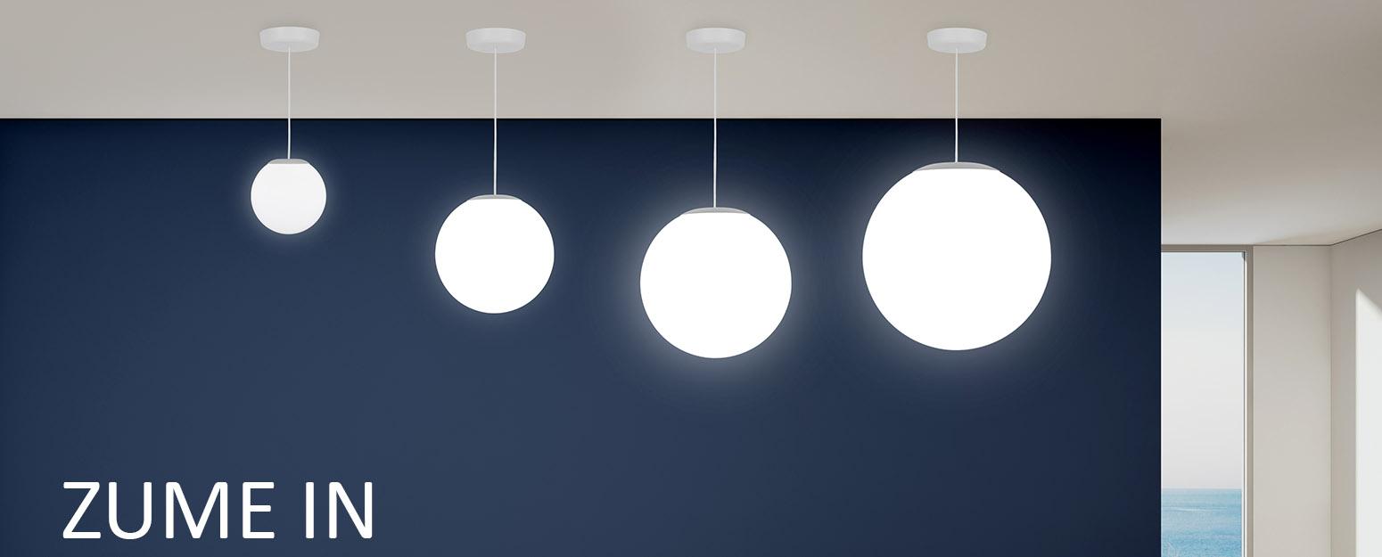 Zume globe pendant light by Visa Lighting