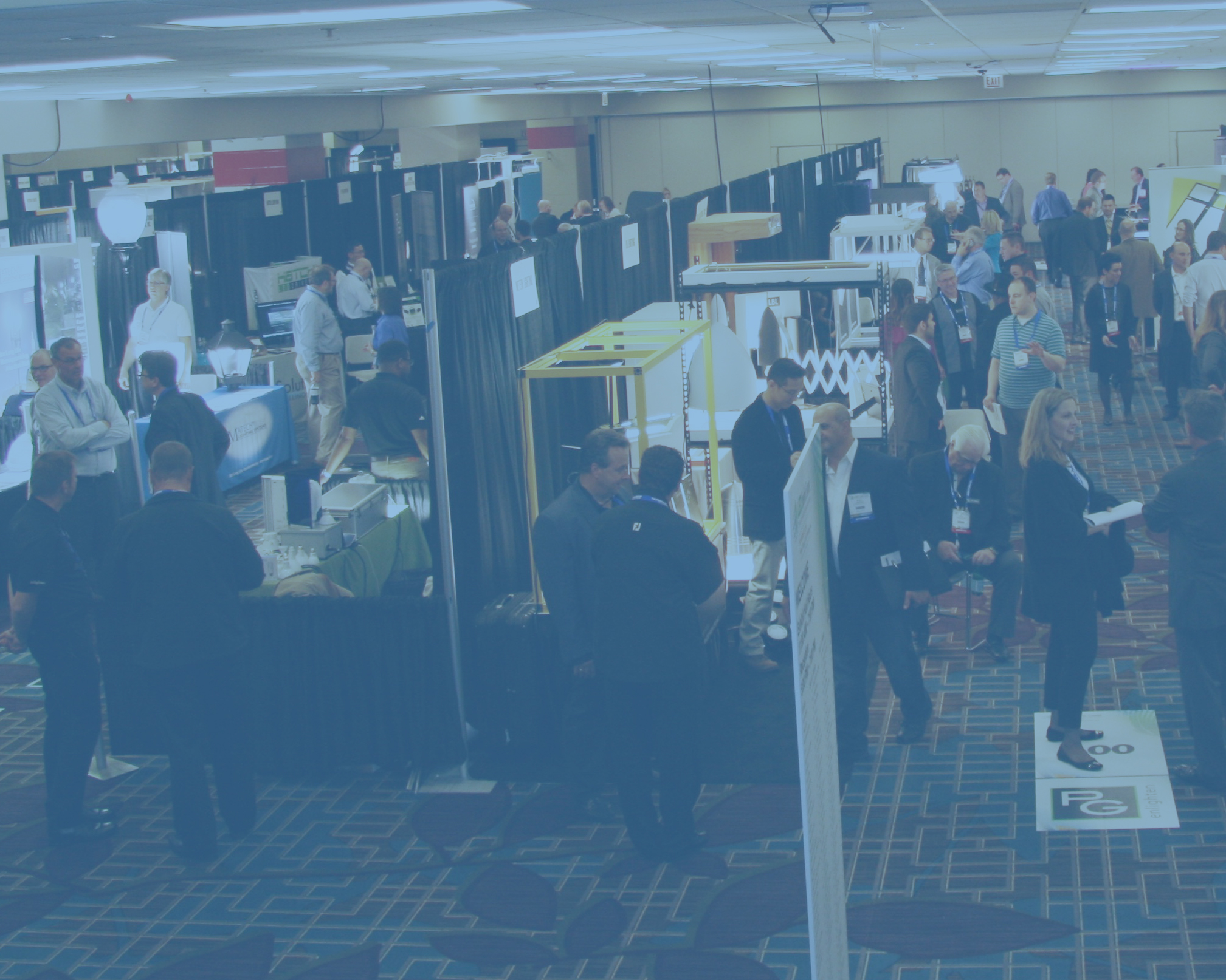 Photo of the LEDucation trade show floor