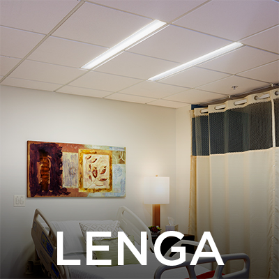 Lenga asymmetric slots emit light onto the patient bed will be at HCD Expo 2018