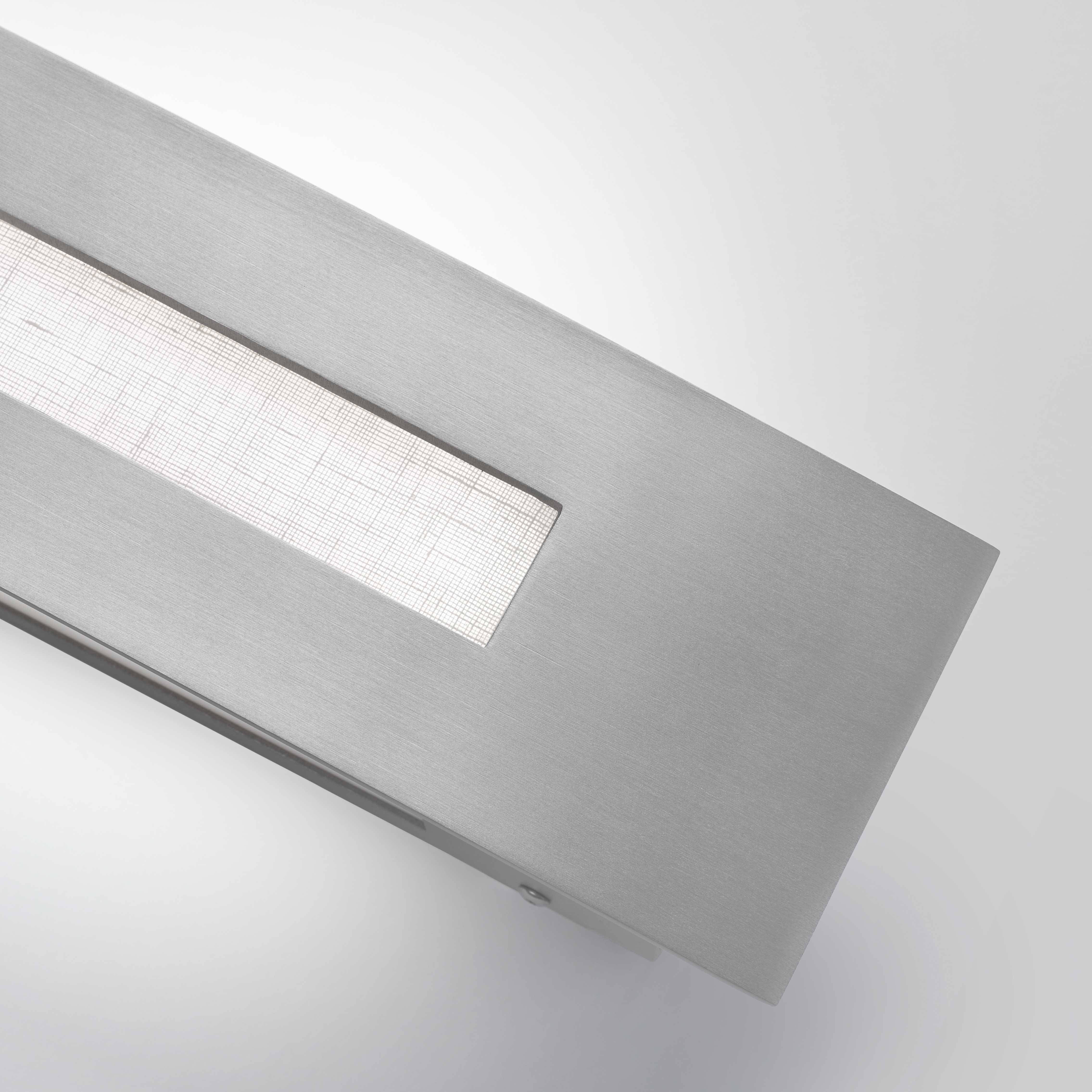 Premium metal and lumicor acrylic light fixture finishes.