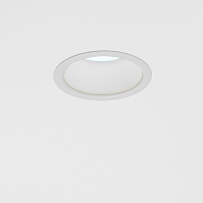 Cade disinfecting recessed downlight in white light disinfection mode