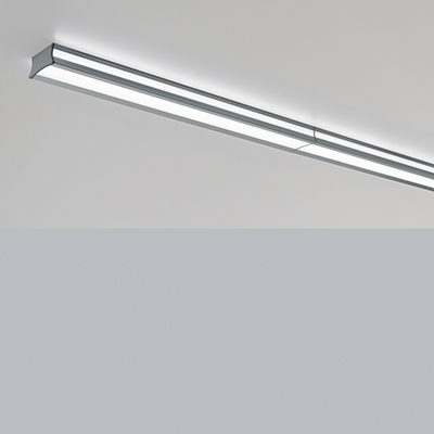 Latitude direct/indirect linear surface mounted ceiling fixture