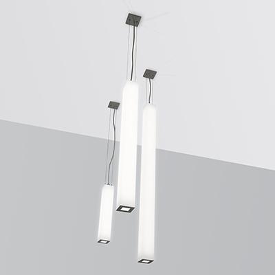 Pillar, a square luminous vertical pendant