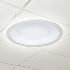 Symmetry ceiling luminaire with White Light Disinfection® technology