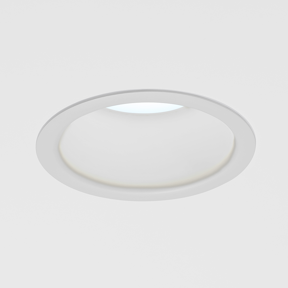 A round downlight with a 6