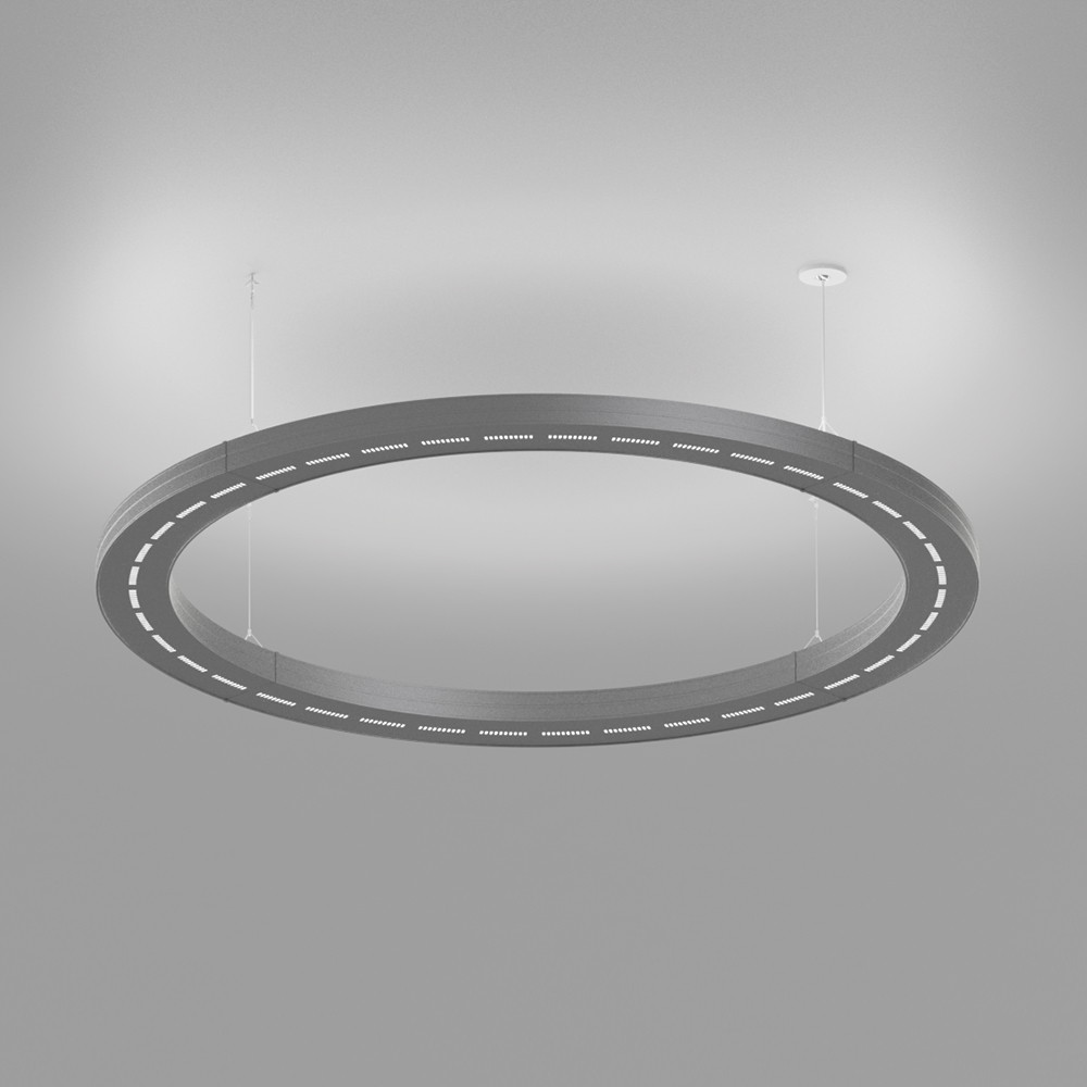 A circular indirect pendant segment