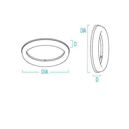 Meridian Round CV5702PSX