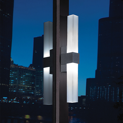 Sass outdoor sconce, which will be shown at Salex Light Up Your Landscape 2018